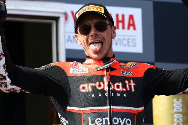 Podium: third place Scott Redding, Aruba.it Racing Ducati.