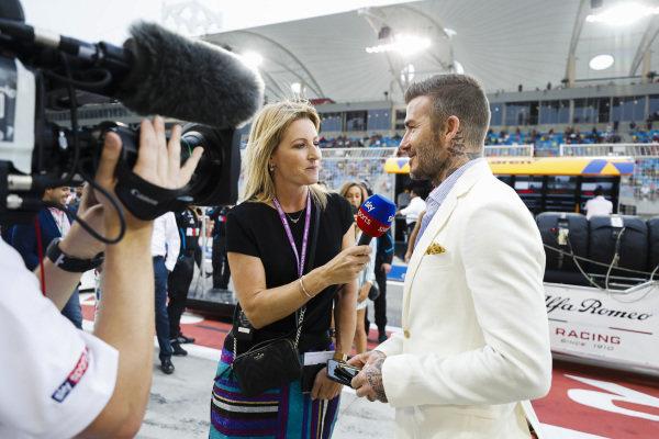 David Beckham talks with Rachel Brookes, Sky TV