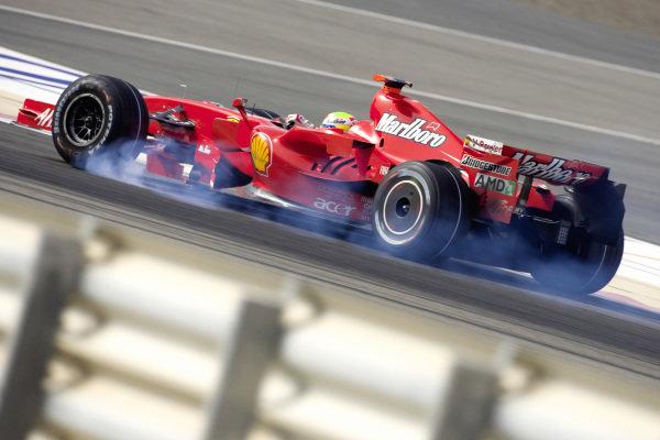Felipe Massa, Ferrari F2007 locking up the front left.