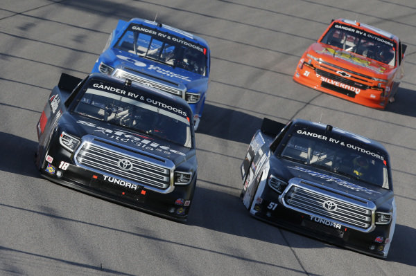 #18: Christian Eckes, Kyle Busch Motorsports, Safelite AutoGlass Toyota Tundra #51: Brandon Jones, Kyle Busch Motorsports, Barracuda Pumps/Menards Toyota Tundra