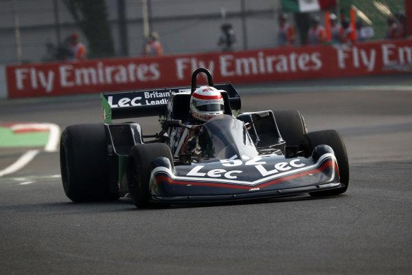 Katsuaki Kubota (JPN) Lotus 78 at Masters Historic, Circuit Hermanos Rodriguez, Mexico City, Mexico, 27-29 October 2017.