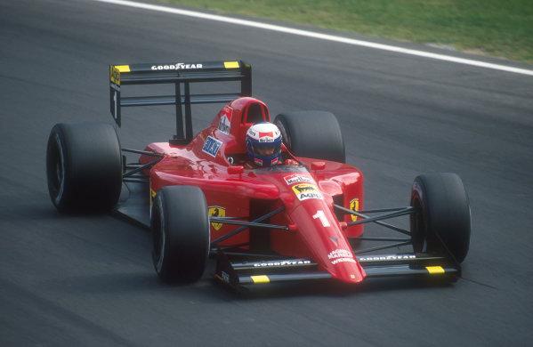 1990 Italian Grand Prix.Monza, Italy.7-9 September 1990.Alain Prost (Ferrari 641) 2nd position.Ref-90 ITA 11.World Copyright - LAT Photographic