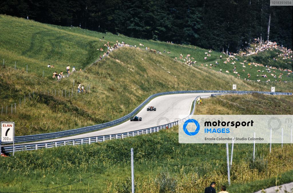 Vittorio Brambilla, March 732 BMW, leads Patrick Depailler, Elf 2 (Alpine A367) Ford BDA/Hart.