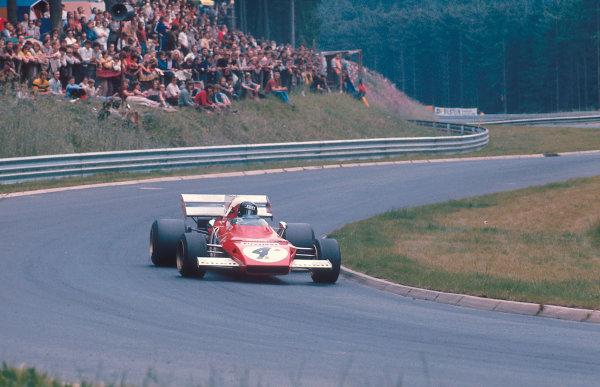 1972 German Grand Prix.Nurburgring, Germany.28-30 July 1972.Jacky Ickx (Ferrari 312B2) 1st position.Ref-72 GER 15.World Copyright - LAT Photographic
