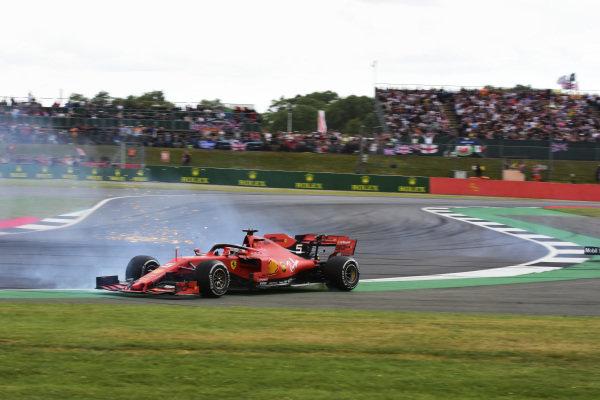 Sebastian Vettel, Ferrari SF90 after running into the back of Max Verstappen, Red Bull Racing RB15