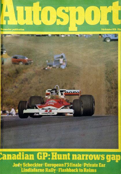 Cover of Autosport magazine, 7th October 1976
