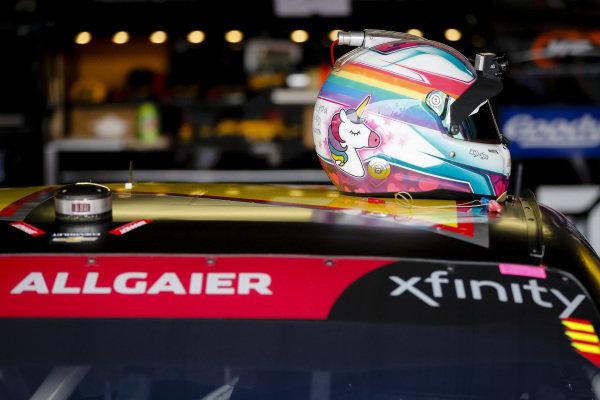 #7: Justin Allgaier, JR Motorsports, Chevrolet Camaro BRANDT Professional Agriculture helmet