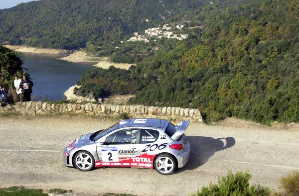 2001 World Rally Championship.Rallye de France, Ajaccio, Corsica, October 19-21.Didier Auriol on stage 2.Photo: Ralph Hardwick/LAT