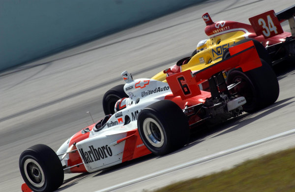 IRL Grand Prix of Miami, Homestead-Miami Speedway, Homestead, Florida, USA 2 March,2002 Gil de Ferran lead Team Penske to 2nd and 3rd place (Castroneves) finishes.