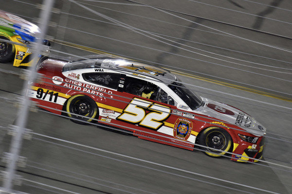 #52: Josh Bilicki, Rick Ware Racing, Ford Mustang Firetruck Scheme
