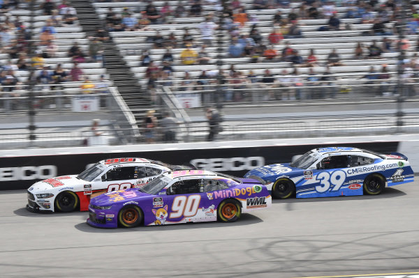 #98: Riley Herbst, Stewart-Haas Racing, Ford Mustang Go Bowling, #90: Spencer Boyd, DGM Racing, Chevrolet Camaro MiniDoge, #39: Ryan Sieg, RSS Racing, Ford Mustang CMR Construction and Roofing / A-Game