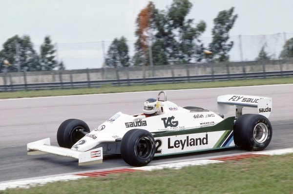1981 Brazilian Grand Prix.Jacarepagua, Rio de Janeiro, Brazil. 27-29 March 1981.Carlos Reutemann (Williams FW07C-Ford Cosworth), 1st position.World Copyright: LAT PhotographicRef: 35mm transparency 81BRA04