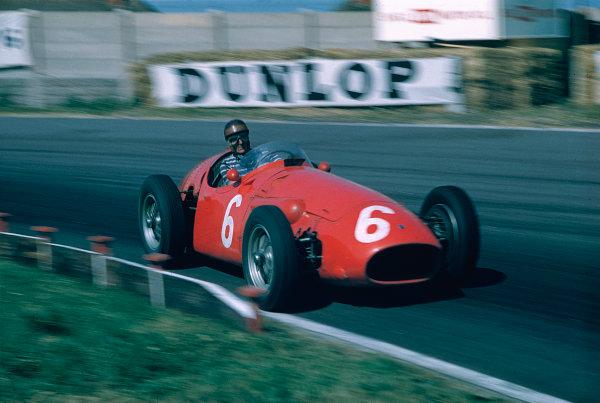 1955 British Grand Prix.Aintree, England.14-16 July 1955.Roberto Mieres (Maserati 250F).Ref-55 GB 02.World Copyright - LAT Photographic