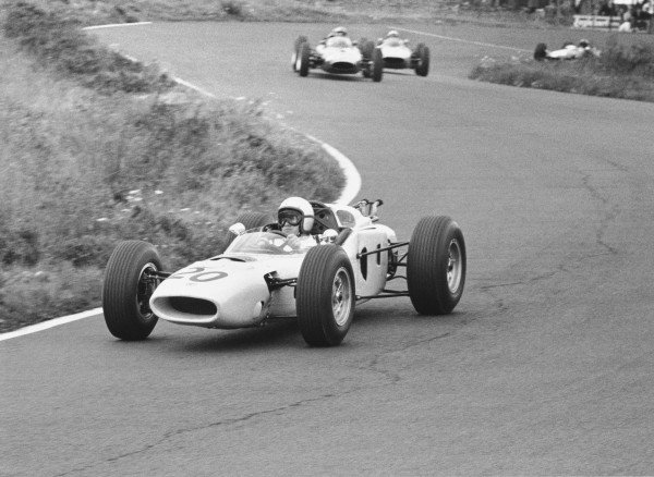 1964 German Grand PrixNurburgring, Germany. 31st July - 02nd AugustHonda take part in their first Grand Prix.World Copyright - LAT Photographic ref: B&W Negative Image no. 11089E_18