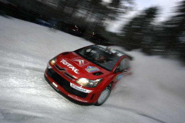 2007 FIA World Rally Championship,Round 2 Swedish Rally 8th-11th February 2007,Sebastien Loeb, Citroen, action.Worldwide Copyright McKlein/LAT.