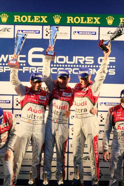 Spa Francorchamps, 3rd-5th May 2012,Marc Gene/Romain Dumas/Loic Duval - Audi Sport Team Joest Audi R18 TDIWorld Copyright: Jakob Ebrey/LAT Photographic
