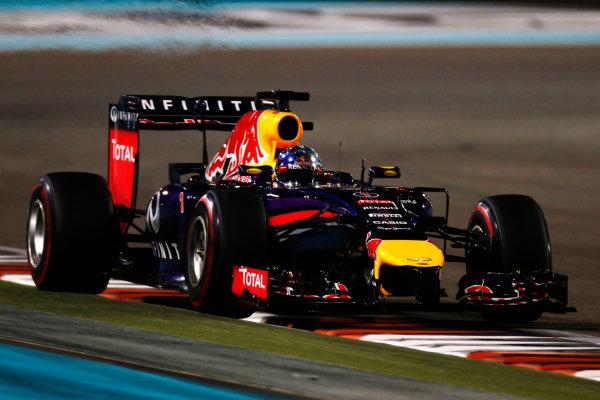 Yas Marina Circuit, Abu Dhabi, United Arab Emirates. Saturday 22 November 2014. Sebastian Vettel, Red Bull Racing RB10 Renault. World Copyright: Glenn Dunbar/LAT Photographic. ref: Digital Image _W2Q5729