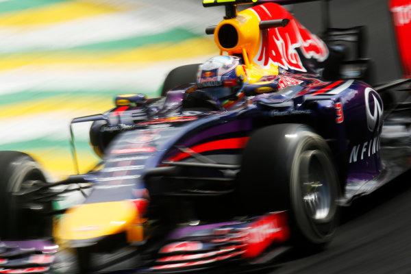 Interlagos, Sao Paulo, Brazil. Friday 7 November 2014. Daniel Ricciardo, Red Bull Racing RB10 Renault. World Copyright: Alastair Staley/LAT Photographic. ref: Digital Image _R6T7219