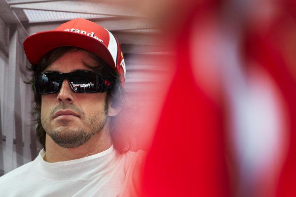 Interlagos, Sao Paulo, Brazil. 26th November 2011. Fernando Alonso, Ferrari F150° Italia. Portrait.  World Copyright: Steve Etherington/LAT Photographic ref: Digital Image SNE26930