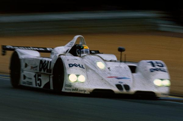 Le Mans, France. 12th - 13th June 1999. Pierluigi Martini/Yannick Dalmas/Joachim Winkelhock (BMW V12 LMR), 1st position, action. World Copyright: LAT Photographic. Ref:  99LM09.