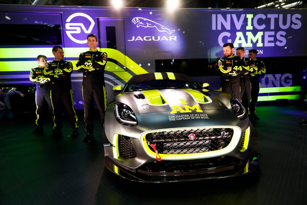 Autosport International Exhibition. National Exhibition Centre, Birmingham, UK. Thursday 11th January 2017. The Invictus Games Jaguar F-Type GT4 launch.World Copyright: Glenn Dunbar/LAT Images Ref: _31I2359