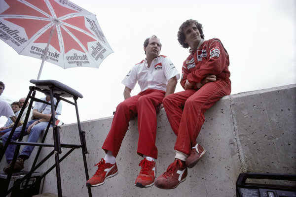 Ron Dennis and Alain Prost.