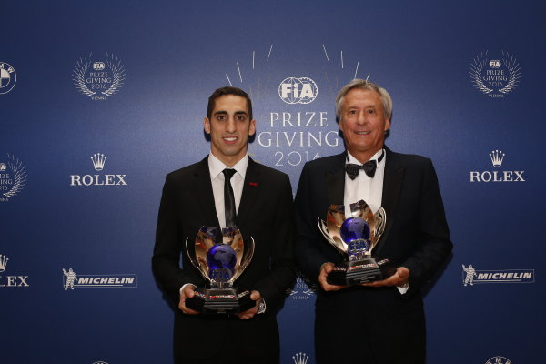 2016 FIA Prize Giving Vienna, Austria Friday 2nd December 2016 Sebastien Buemi and Jean-Paul Driot of the eDAMS Formula E team. Photo: Copyright Free FOR EDITORIAL USE ONLY. Mandatory Credit: FIA ref: 30574339613_0cd42eedd0_o