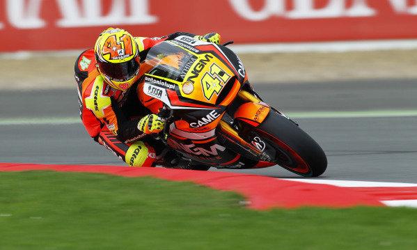 2014 MotoGP Championship  British Grand Prix.  Silverstone, England. 29th - 30st August 2014.  Aleix Espargaro, Forward Yamaha.  Ref: _W1_5360. World copyright: Kevin Wood/LAT Photographic
