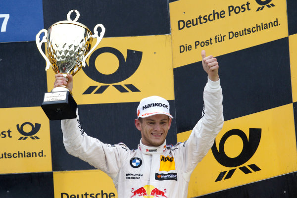2017 DTM Round 1 Hockenheim, Germany. Sunday 7 May 2017. Podium: third place Marco Wittmann, BMW Team RMG, BMW M4 DTM World Copyright: Alexander Trienitz/LAT Images ref: Digital Image 2017-DTM-R1-HH-AT1-3730