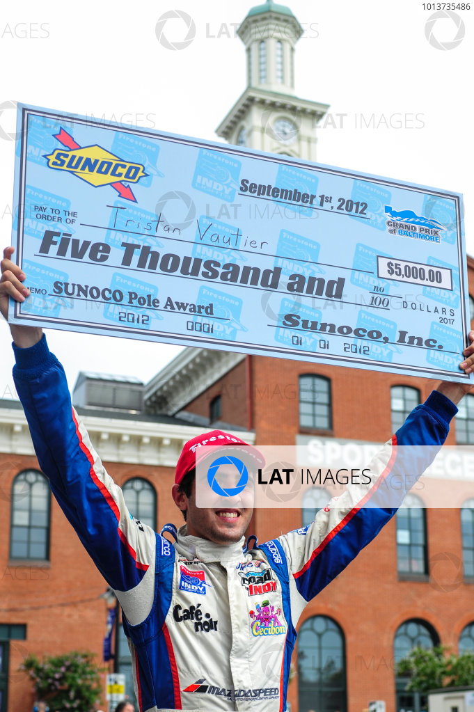 31 August - 2 September, 2012, Baltimore, Maryland USATristan Vautier wins pole. (c)2012, Jamey PriceLAT Photo USA