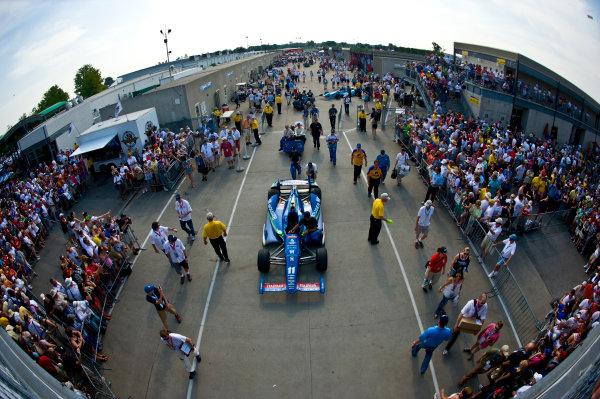 27 May, 2012, Indianapolis, Indiana, USAThe car of Tony Kanaan (#11) is pushed to the pits.(c)2012, F. Peirce WilliamsLAT Photo USA