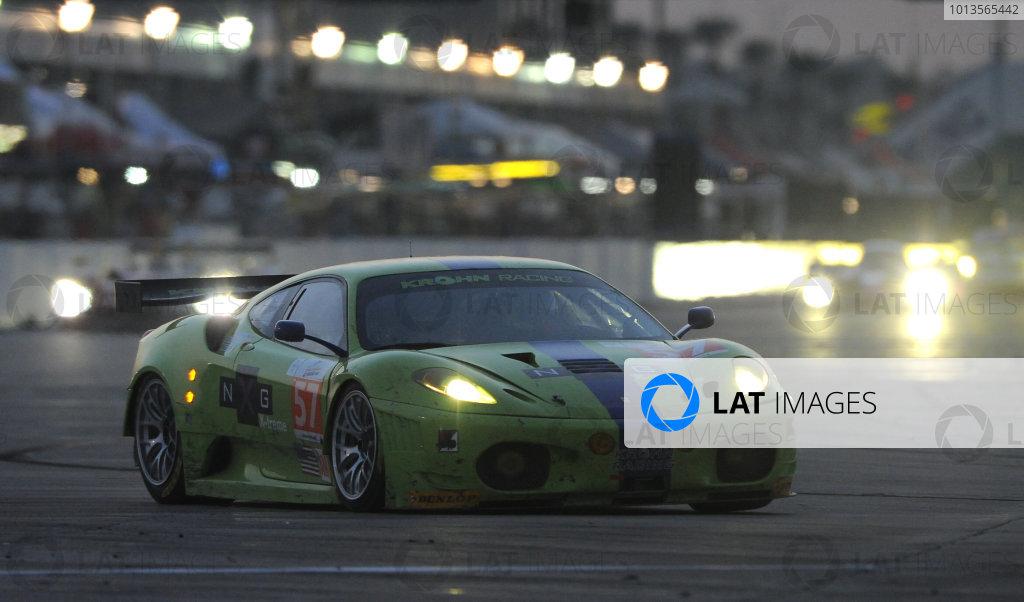 14-19 March 2011. Sebring, Florida USA#57 Krohn Racing Ferrari F430©2011 Dan R. Boyd LAT Photo USA