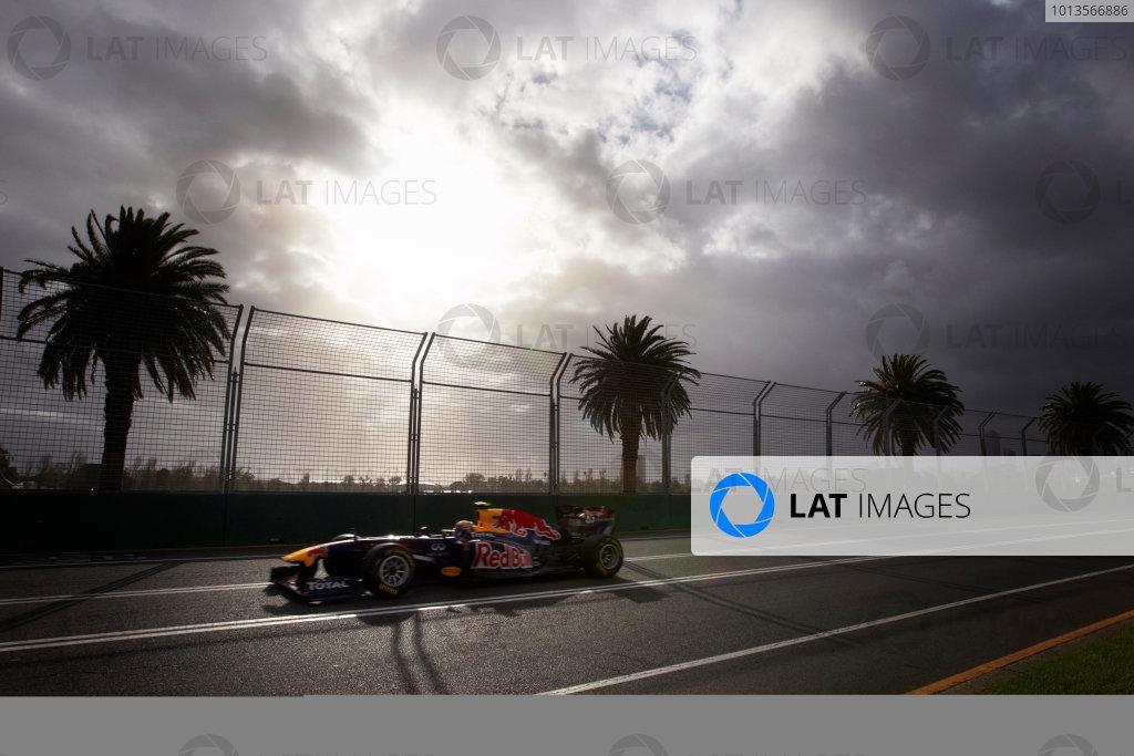Albert Park, Melbourne, Australia 24th March 2011. Mark Webber, Red Bull Racing RB7 Renault. Action.  World Copyright: Steve Etherington/LAT Photographic ref: Digital Image SNE23834