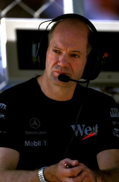 Adrian Newey (GBR) McLaren Technical Director.Formula One World Championship, Rd14, Italian Grand Prix, Monza, Italy, 14 September 2003.DIGITAL IMAGE
