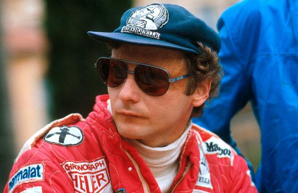 1977 Monaco Grand Prix.Monte Carlo, Monaco.20-22 May 1977.Niki Lauda (Ferrari) 2nd position.Ref-77 MON 45.World Copyright - LAT Photographic