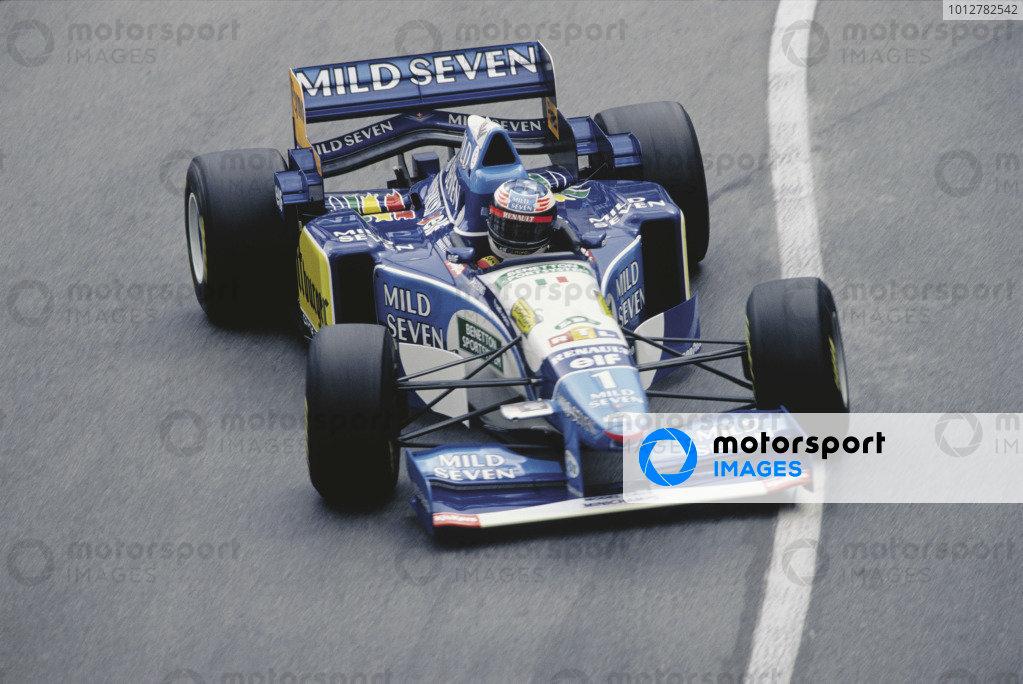 2003 Racing Past... Exhibition 1995 Monaco Grand Prix, Monte Carlo. Michael Schumacher (Benetton B195), 1st position. World Copyright - LAT Photographic Exhibition ref: a024