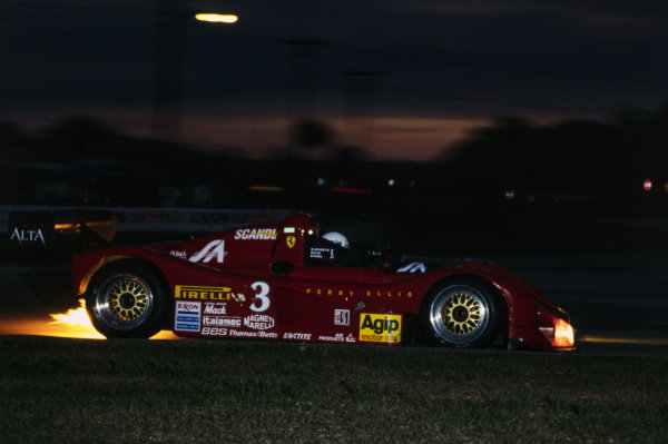 Mauro Baldi / Michele Alboreto / Andy Evans, Scandia Engineering, Ferrari 333 SP.