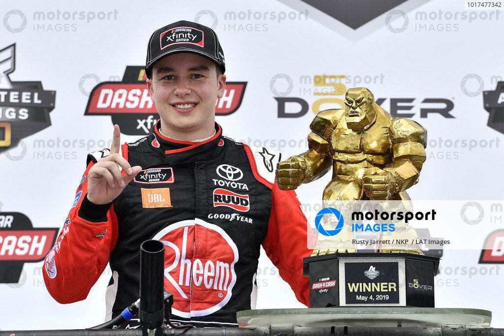 #20: Christopher Bell, Joe Gibbs Racing, Toyota Supra Rheem wins