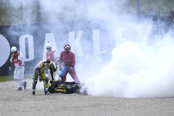 Francesco Bagnaia, Pramac Racing crash.