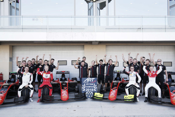 ART GP3 2018 Team Champions, Jake Hughes (GBR, ART Grand Prix) Nikita Mazepin (RUS, ART Grand Prix) Anthoine Hubert (FRA, ART Grand Prix) and Callum Ilott (GBR, ART Grand Prix)