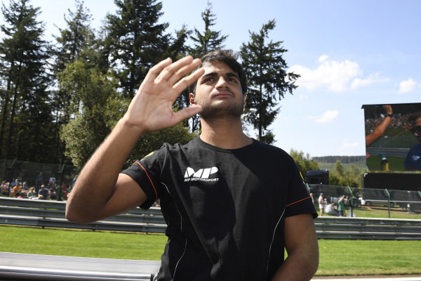 SPA-FRANCORCHAMPS, BELGIUM - AUGUST 31: Mahaveer Raghunathan (IND, MP MOTORSPORT) during the Spa-Francorchamps at Spa-Francorchamps on August 31, 2019 in Spa-Francorchamps, Belgium. (Photo by Gareth Harford / LAT Images / FIA F2 Championship)