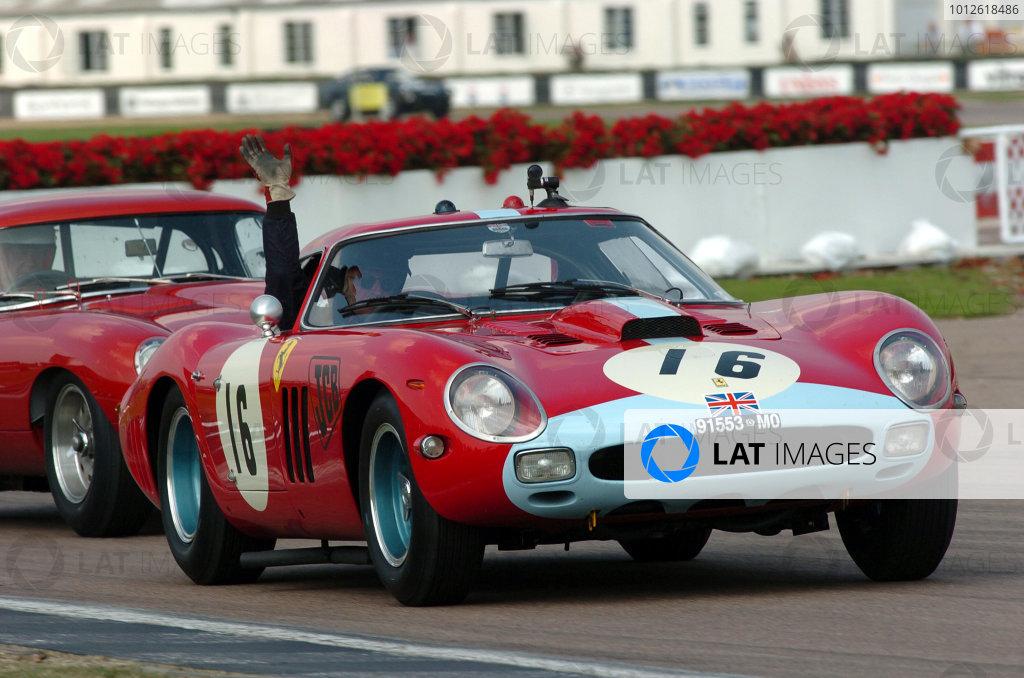 Goodwood, England. 3rd - 5th September 2004.Royal Automobile ClubCadenet/Bamford (Ferrari 250 GTO 64) leads Green/Tambay (Ferrari 330 GTO), action.World Copyright: Jeff Bloxham/LAT Photographicref: Digital Image Only
