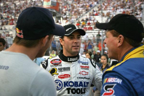 Jimmie Johnson (USA) LOWE'S/Kobalt Tools Chevrolet. O'Reilly 200, Bristol Motor Speedway, Tennessee, USA, 20 August 2008.