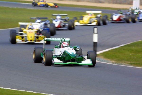 Adam Carroll (GBR) Sweeney Racing. Winner of the scholarship class in both races.British Formula 3 Championship, Rd3 & Rd4, Donington Park, England. 14 April 2002.