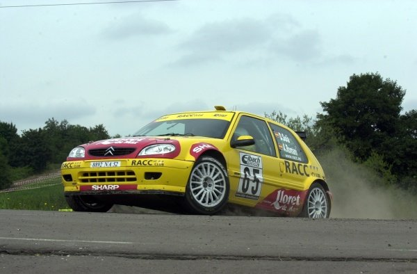 JWRC winner Daniel Sola (ESP), Citroen Saxo Super 1600, on Stage 21.