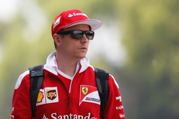 Shanghai International Circuit, Shanghai, China. Thursday 14 April 2016. Kimi Raikkonen, Ferrari.  World Copyright: Dunbar/LAT Photographic ref: Digital Image _89P0361A