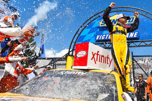 NASCAR XFINITY Series One Main Financial 200 Dover International Speedway, Dover, DE USA Saturday 3 June 2017 Kyle Larson, ParkerStore Chevrolet Camaro celebrates his win in Victory Lane World Copyright: Nigel Kinrade LAT Images ref: Digital Image 17DOV1nk10432