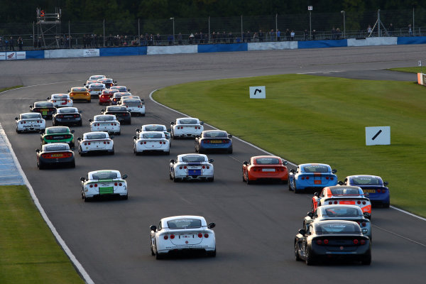 2017 Ginetta Racing Drivers Club+ Championship, Donington Park, Leicestershire. 23rd - 24th September 2017. Race Start. World Copyright: JEP/LAT Images