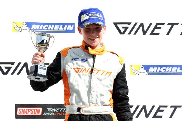 2017 Ginetta Junior Chamionship, Rockingham, 27th-28th August 2017, Luke Browning (GBR) Richardson Racing World copyright. JEP/LAT Images