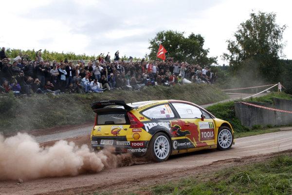 Round 11Rally de France 30/9-3/10Petter Solberg, Citroen WRC, Action.Worldwide Copyright: McKlein/LAT